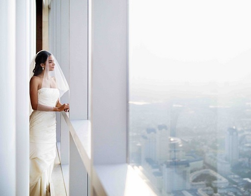 wedding bride at hanoi city hotel intercontinental hanoi landmark72