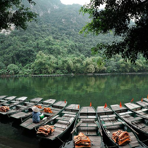 Trang An nature reserve near Hanoi hotel