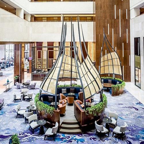 unique design Hanoi hotel lounge
