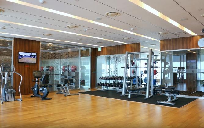fitness centre of hotel in Hanoi