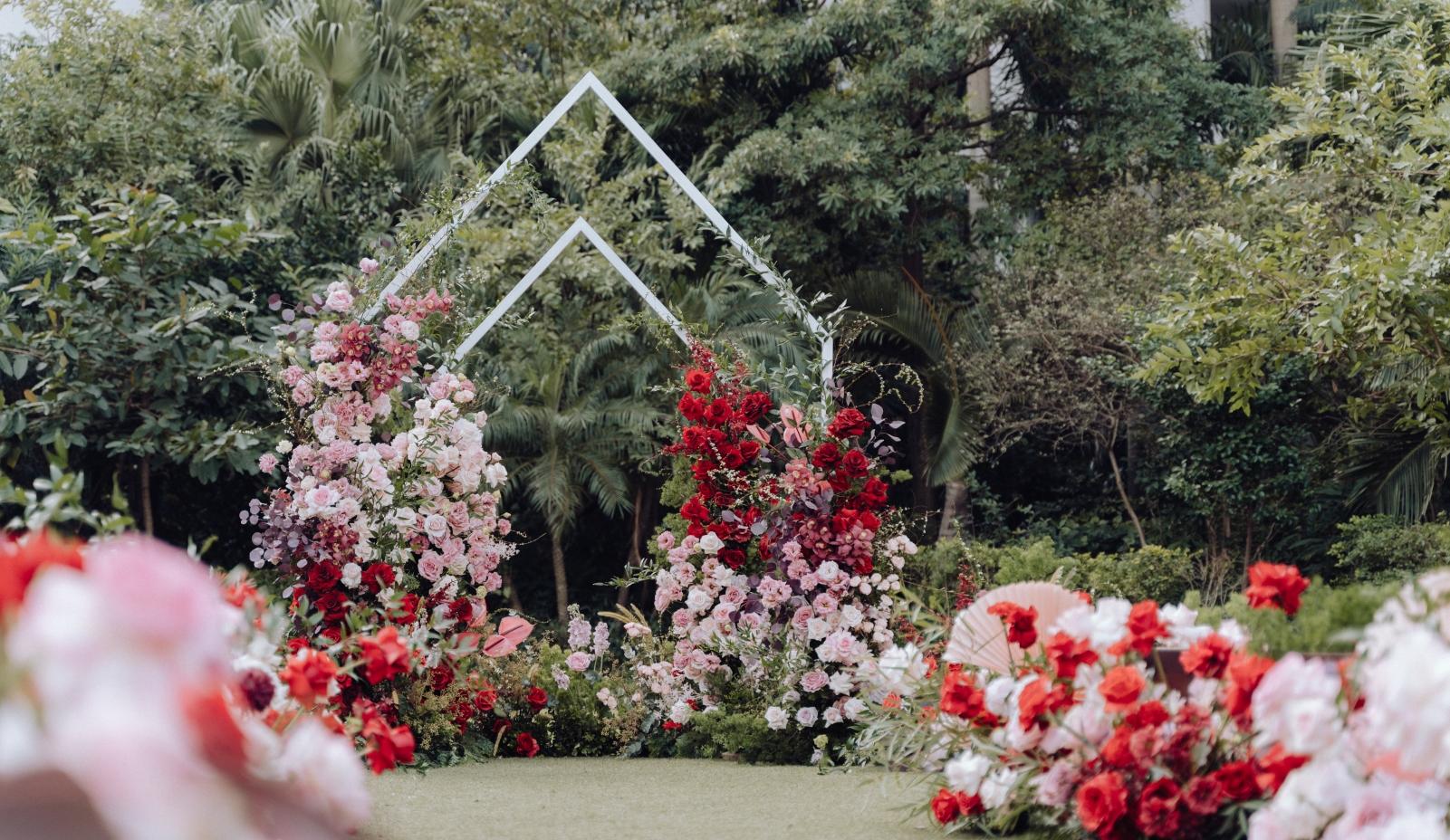 đám cưới ngoài vườn tại hà nội