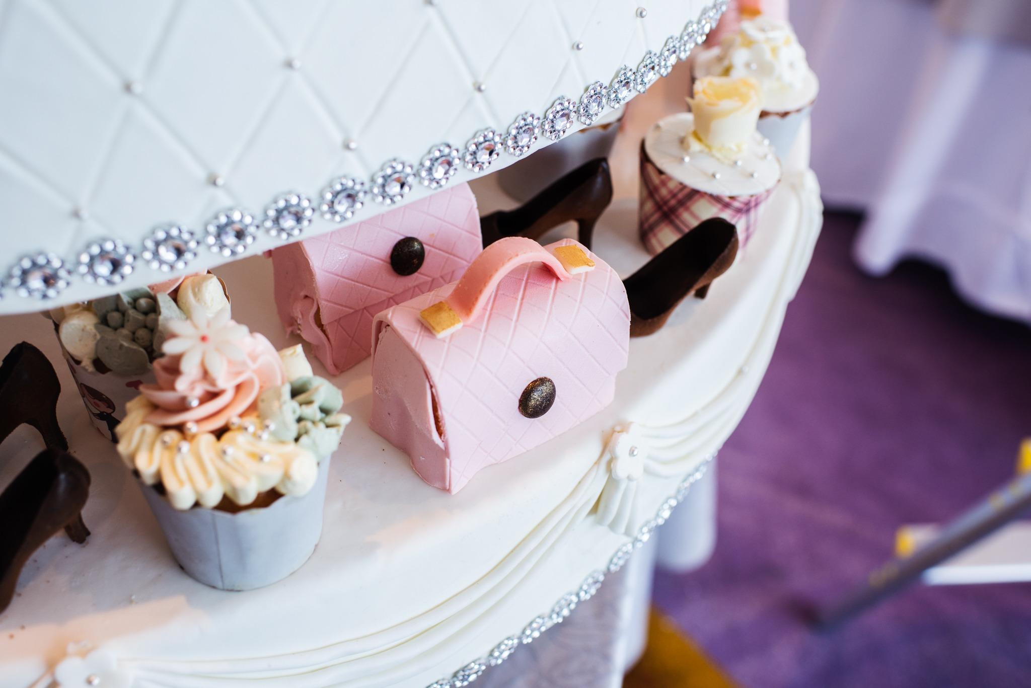 creative wedding cake in luxury hanoi hotel