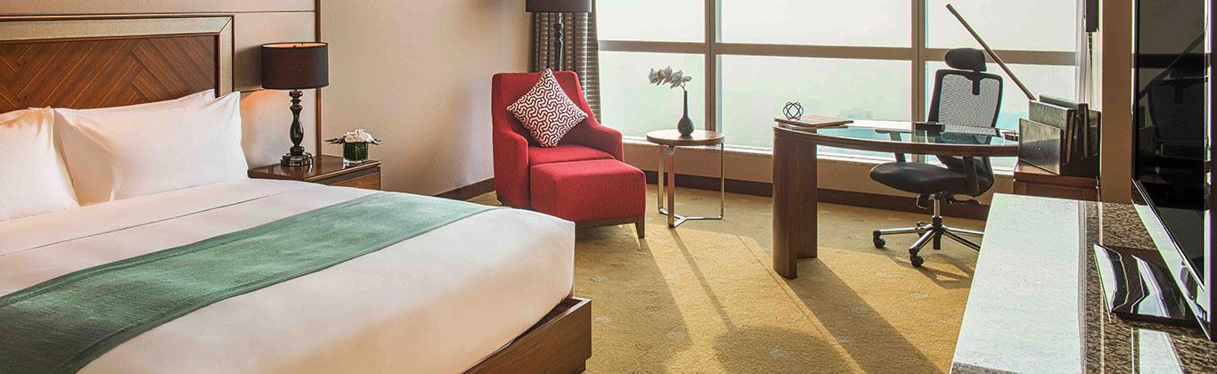 Cảnh trong phòng khách sạn tại Hà Nội