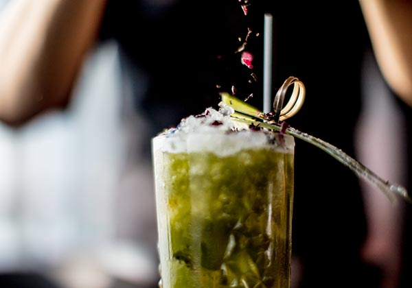 creative cocktails at Hanoi bar