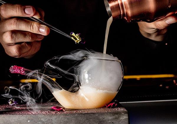 impressive cocktails at Hanoi bar