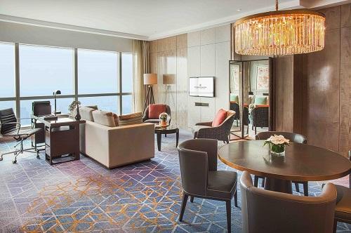 luxury suite in intercontinental hanoi landmark72 hanoi city hotel